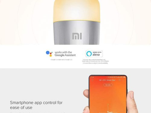 In #Offerta Lampadina LED smart #Xiaomi compatibile con #GoogleHome e con #Alexa