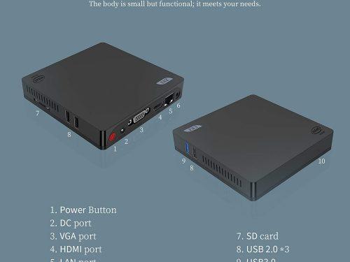 #MiniPc Intel Atom x5-Z8350 Processor 4GB Ram 64GB Rom Graphics HD 400